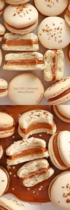 Salted Caramel Macarons | Posted By: DebbieNet.com