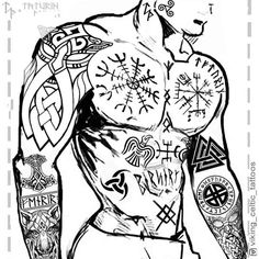 Image may contain: drawing Rune Viking, Viking Tattoo Sleeve, Viking Tattoo Symbol, Norse Tattoo, Viking Art, Viking Symbols, Viking Tattoo Design, Sleeve Tattoos, Tattoo Celtic