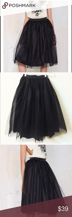 Beautiful meshed up tulle skirt-4 It's so perfectly current for 2016-2017. Nasty gal and urban outfitters have both done takes on this kind of tulle skirt, perfectly suited for any season. Super chic and pretty. Fluffy and comfy, no itchy. Elastic waist band. S: waist 24 inches can be stretched 41 inches. M: 26 inches can be stretched to 43, L: 27 can be stretched to 45 inches. XL: 28 can be stretched to 47 inches. NWOT. Three layers in total. Unbranded Boutique Skirts