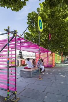 Image 4 of 30 from gallery of Temple of Agape / Morag Myerscough + Luke Morgan. Photograph by Gareth Gardner Urban Landscape, Landscape Design, Villa Architecture, Ancient Architecture, Off Grid, Urban Intervention, Public Space Design, Design Exterior, Urban Furniture