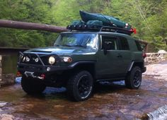 kayak roof rack system - Page 4 - Toyota FJ Cruiser Forum Fj Cruiser Mods, Fj Cruiser Forum, Toyota Fj Cruiser, Land Cruiser, Off Road Camping, Truck Camping, Best Off Road Vehicles, Kayak Roof Rack, Truck Tent