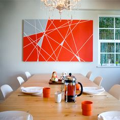 A great DIY art project, inspired by color field paintings.