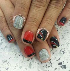 NFL, Arizona Cardinal nails Get Nails, How To Do Nails, Hair And Nails, Make Money Blogging, How To Make Money, Make Up, Arizona Cardinals, Cardinals Game, Football Nails