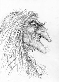 Granny Fearsome. (self portrait)