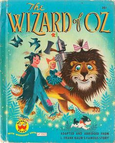VINTAGE KIDS BOOK The Wizard of Oz by HazelCatkins on Etsy, $10.00