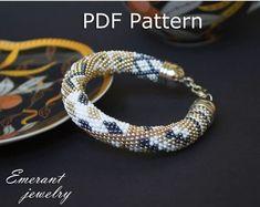 Bead crochet pattern seed bead bracelet tutorial pdf beading master Class jewelry make necklace Crochet Rope PDF tutorial geometric rhombus Crochet Bracelet Pattern, Crochet Beaded Bracelets, Bead Crochet Patterns, Beaded Cuff Bracelet, Bead Crochet Rope, Beaded Bracelet Patterns, Seed Bead Bracelets Tutorials, Beaded Bracelets Tutorial, Necklace Tutorial