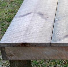 Very inexpensive idea using vinegar, steel wool, and tea bags. Turn new wood to barn wood