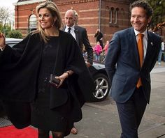 Queen Maxima visited the Regionale Groeikamer in Rotterdam. Queen wore Natan Dress, Christian Louboutin pumps