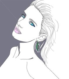 Portrait of Nicole Kristin illustration by Montana Forbes