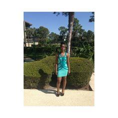 PurpleGlass Boutique Teal Blue Bandage Dress via Polyvore
