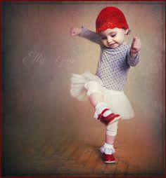 Splendid Sass-happy, dancing child.