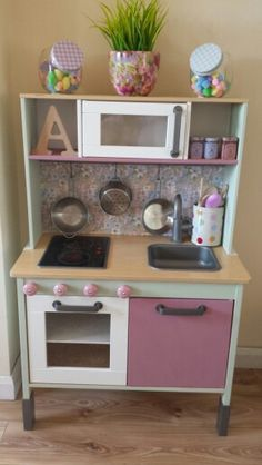 Painted in frenchic chalk paint ikea duktig kids play kitchen                                                                                                                                                                                 Plus