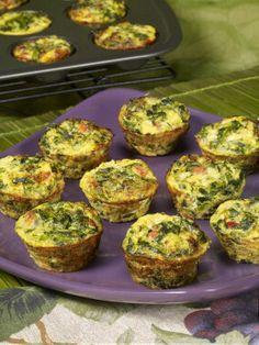 Spinach-Parmesan Quiche Bites