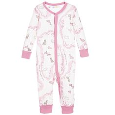 4ee1c78be8172 Joha - Pink Arctic Print Wool & Viscose Babysuit | Thermal Leggings, Silk  Pajamas,