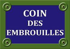 Plaque DE RUE Coin DES Embrouilles 20x30cm ALU Neuf Personnalisable Photo Logo | eBay