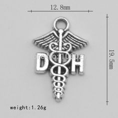 This item is unavailable Medical Symbols, Dental Hygienist, Diy Jewelry Making, Graduation Gifts, Silver Plate, Jewelry Watches, Pendants, Charmed, Letters