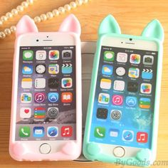 Cat Ears Lovely Animals IPhone 4/4s/5c/5/5s/6/6p Cases Soft Silicone only $9.99 in ByGoods.com!