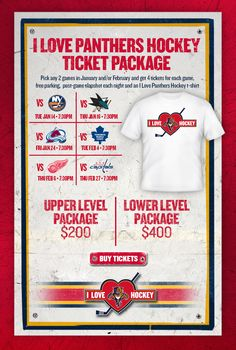 "Florida Panthers ""I Love Panthers Hockey"" Ticket Promotion"