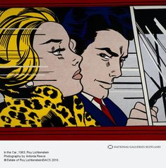 Roy Lichtenstein In The Car