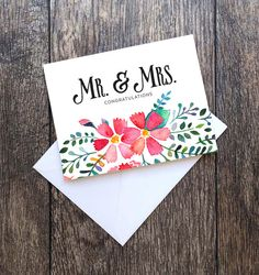 Mr. & Mrs. Congratulations Greeting Card 5x7 by MrsmSpencez