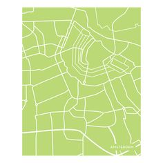 Amsterdam Green 16x20 now featured on Fab.