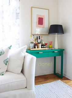 coco+kelley sherwin williams painted console DIY_2
