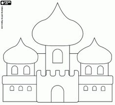 The palace of Aladdin and the Princess coloring page