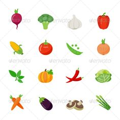Vegetable Icons Flat Full Color Design | Buy and Download: http://graphicriver.net/item/vegetable-icons-flat-full-color-design/7648079?WT.ac=category_thumb&WT.z_author=ctrlaplus&ref=ksioks