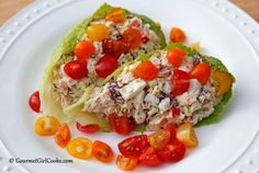 Gourmet Girl Cooks: Tuna Egg Salad Cups - Quick & Easy Low Carb
