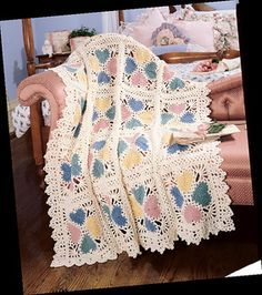 Lacy Valentine Afghan - link to pattern. See separate pin for color inspiration.