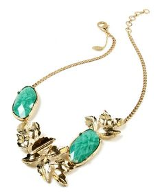 Another great find on #zulily! Gold & Turquoise Lindian Necklace #zulilyfinds