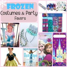 Frozen themed COSTUME and PARTY FAVOR ideas! My girls would die over these!