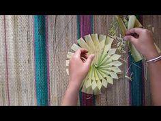 How to make Coconut leaf Toran: Flower type - YouTube
