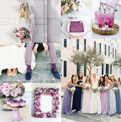 Blueberry Lavender Radiant Orchid Wedding Colors | EAD