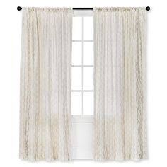 Threshold™ Metallic Printed Broken Vine Curtain Panel 84 inch $36.99