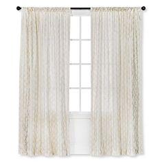 Threshold™ Metallic Printed Broken Vine Curtain Panel