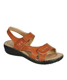 This Brown Perfect Stitch Sandal by PINKY FOOTWEAR is perfect! #zulilyfinds