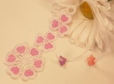 Pink Heart Flower Bookmark by DaisysCrystals on Etsy, $6.00