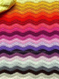 Ripple Blanket #2 Part 5 gelb by kruemelmonsterag, via Flickr