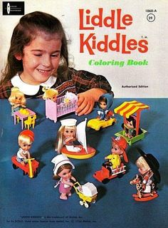 Liddle Kiddles Coloring Book -- This shows the original 10 Kiddles: Greta Griddle ( My Childhood Memories, Childhood Toys, Sweet Memories, 1970s Childhood, Vintage Dolls, Vintage Ads, Vintage Stuff, Vintage Paper, Vintage Items