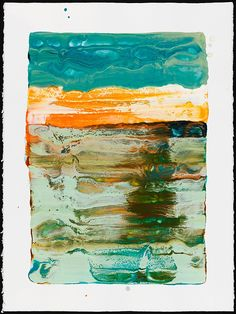 The sky above the port was the color of television, tuned to a dead channel  Encaustic paintings by Lynn Basa  Title: William Gibson