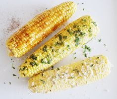 Chipotle Honey, Cilantro Lime, and Parmesan Herb Corn on the Cob ...