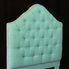 Twin Size Tufted Headboard DIY includes building the frame as well as upholstering.