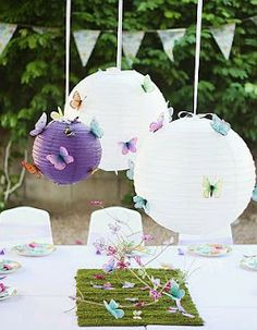 1000 images about bautizos on pinterest baby headbands - Decoracion con mariposas ...