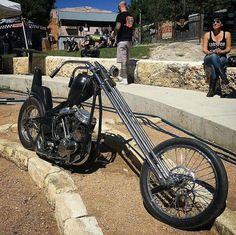 Retro Motorcycle, Chopper Motorcycle, Bobber Chopper, Motorcycle Style, Harley Davidson Custom Bike, Harley Davidson Panhead, Classic Harley Davidson, Custom Choppers, Custom Motorcycles