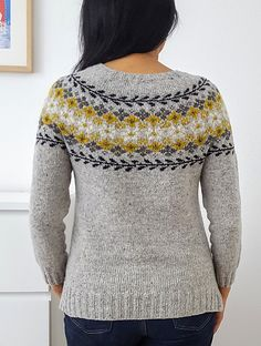 Ravelry: Project Gallery for Birkin pattern by Caitlin Hunter Knitting Designs, Knitting Patterns Free, Knit Patterns, Free Knitting, Free Pattern, Handgestrickte Pullover, Icelandic Sweaters, Hand Knitted Sweaters, Fair Isle Knitting