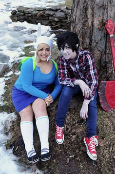 Fionna and Marshall Lee from Adventure Time @Andrew Weatherstone 2013Photo: kiratsukai