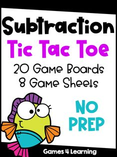 These Tic Tac Toe subtraction games combine the practice of basic subtraction facts with the fun of Tic Tac Toe. Students play the game like regular Tic Tac Toe but must answer the fact before they place a piece. Subtraction Games, Math Games, Fluency Practice, Tic Tac Toe Game, Math Classroom, Math Lessons, Second Grade, Teaching Ideas, Students