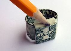 i made this origami dollar bill ring today!  it was easy-smeazy!