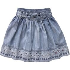 Women's Jeans Trousers, stone wash, acid wash, sand blasting, destroy and any other quality Baby Girl Skirts, Baby Skirt, Little Girl Dresses, Baby Dress, Girls Dresses, Jupe Short, Skirts For Kids, Pepe Jeans, Cute Skirts